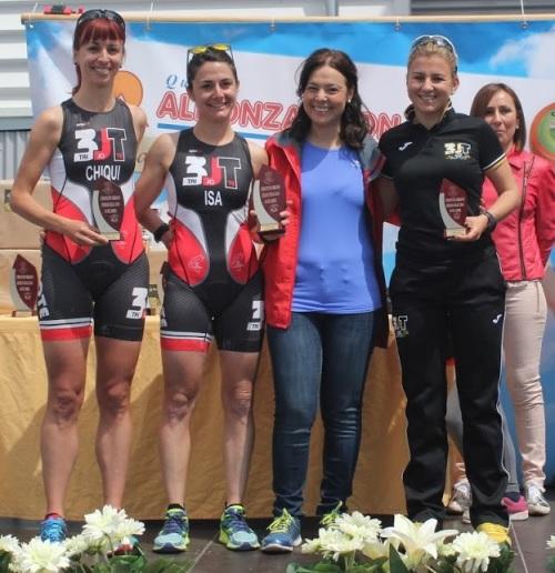 podium femenino I Duatlon