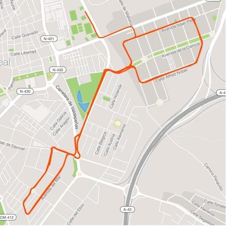 recorrido triatlon bici